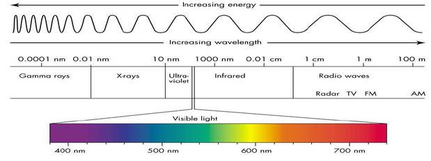 Visible Spectrum of Light